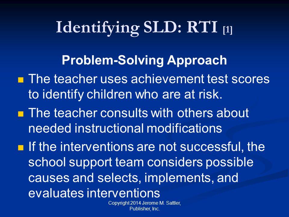 Identifying SLD: RTI [1]